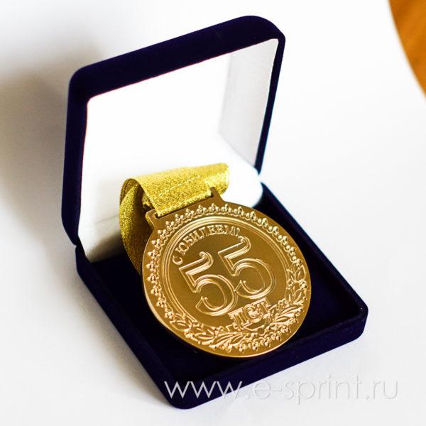 бархатный футляр для медали