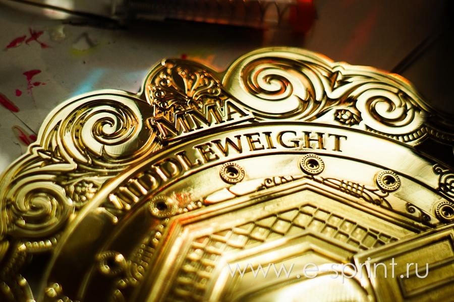 центральная эмблема на поясе чемпиона